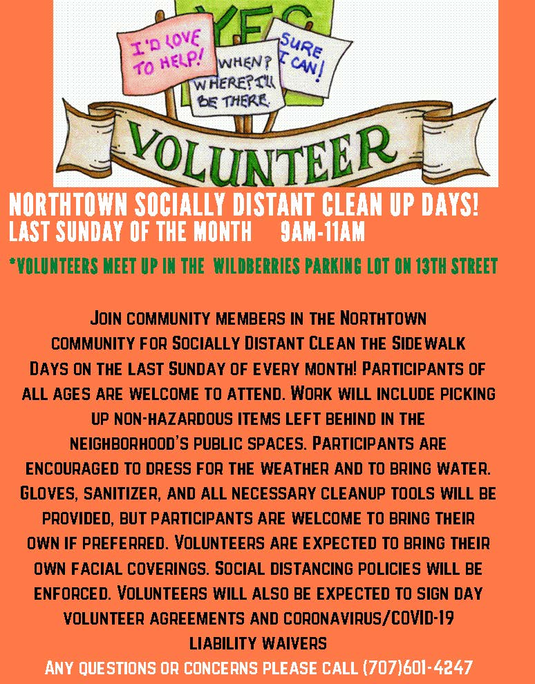 Northtown Clean the Sidewalk Days Flyer