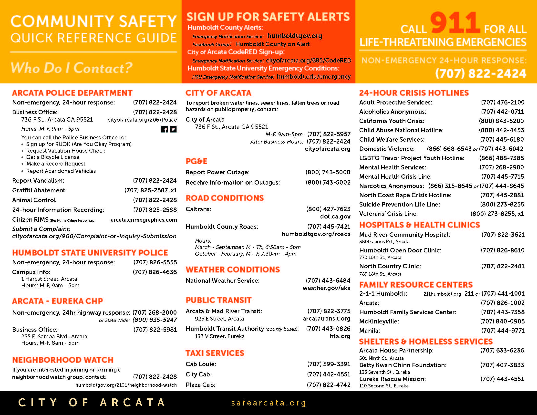 Community Safety Quick Reference Guide, January 2021_Page_2