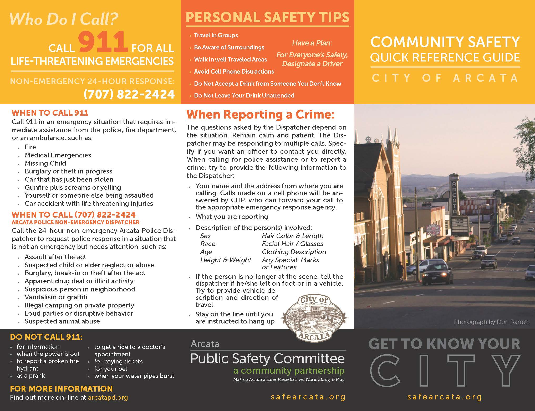Community Safety Quick Reference Guide, January 2021_Page_1