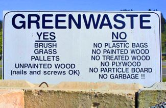 Wes Green List of Acceptable Greenwaste Drop Off Materials