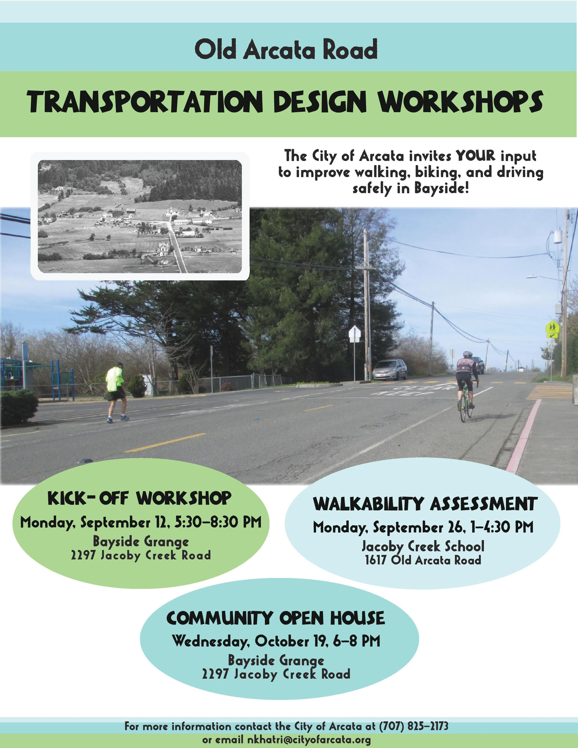 Old Arcata Road Design Workshops Flier