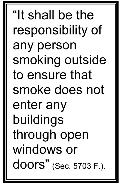 Smoke Free Arcata Policy