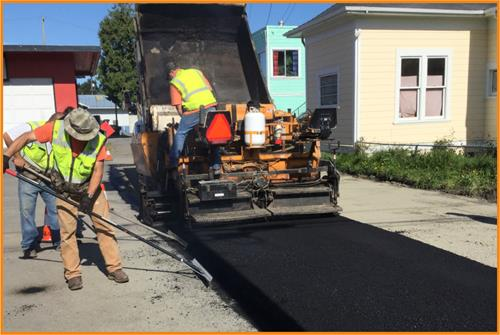 Road Slurry Seal Resurfacing