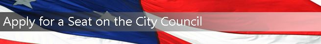 Apply for a Seat on the City Council