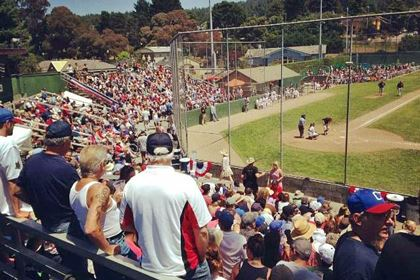 Arcata Ballpark Crowds at a Humboldt Crabs Game