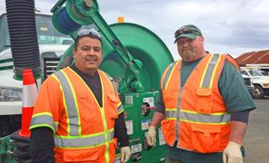 Ourcata: City Employees at Work Jose &#34Pepe&#34 Euan-Estrada, Ted Yarbrough Collection System Crew