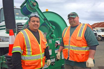 Ourcata Collection System Crew Jose Euan-Estrada and Ted Yarbrough