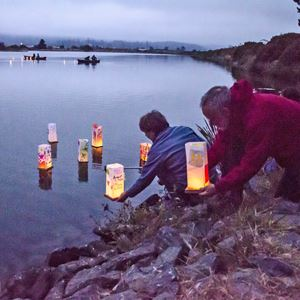 Arcata Floating Lantern Ceremony Arcata Marsh Photo by Mark Larson