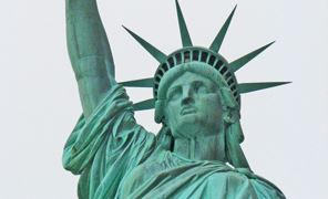 Close Up of Statue of Liberty&#39s Face