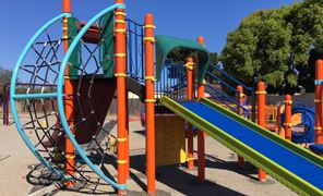 Colorful Greenview Park Play Equipment Post-Renovation