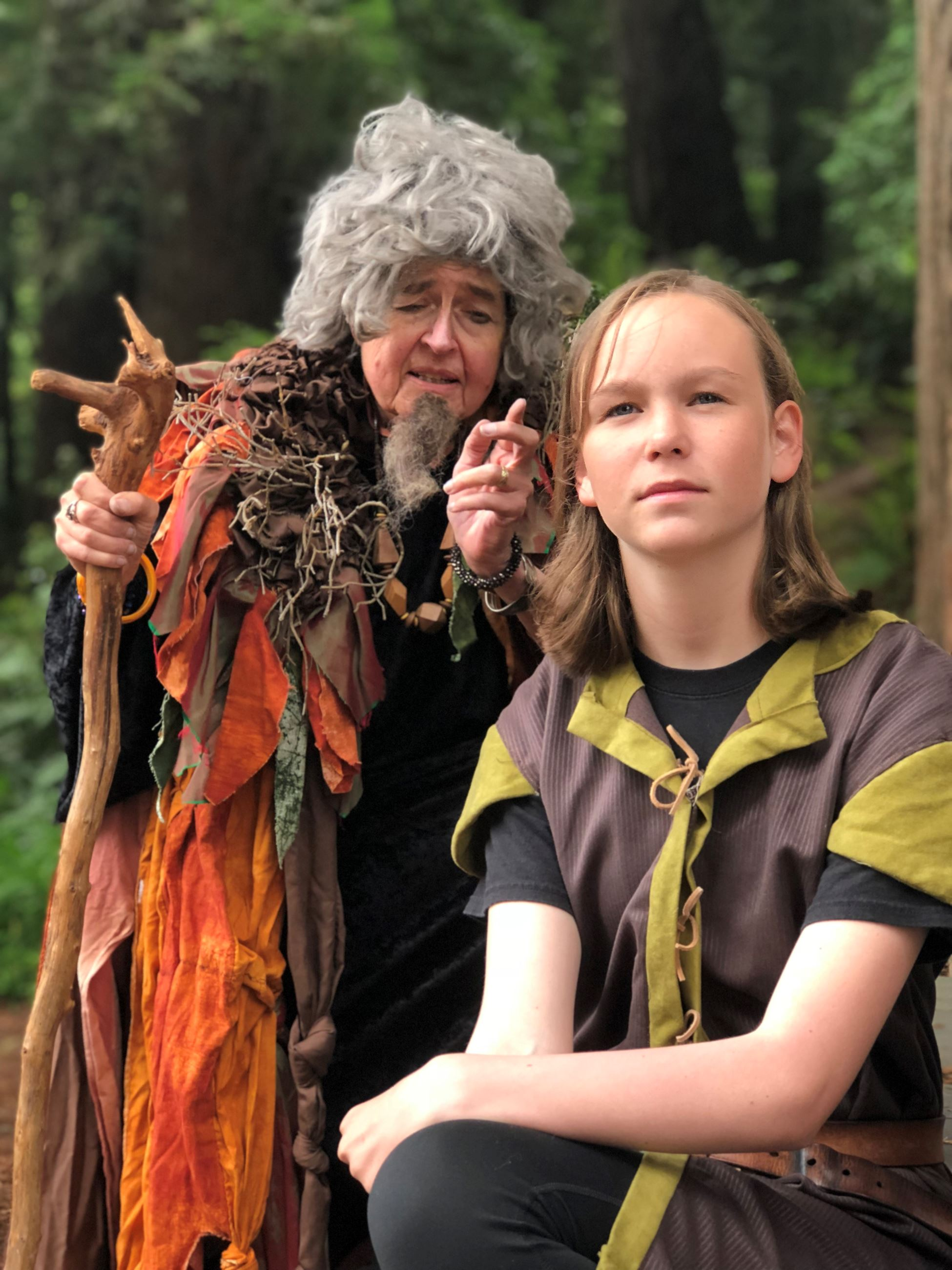 Nightshade and Young Merlin played by Pam F. Service and Zoe Osborn