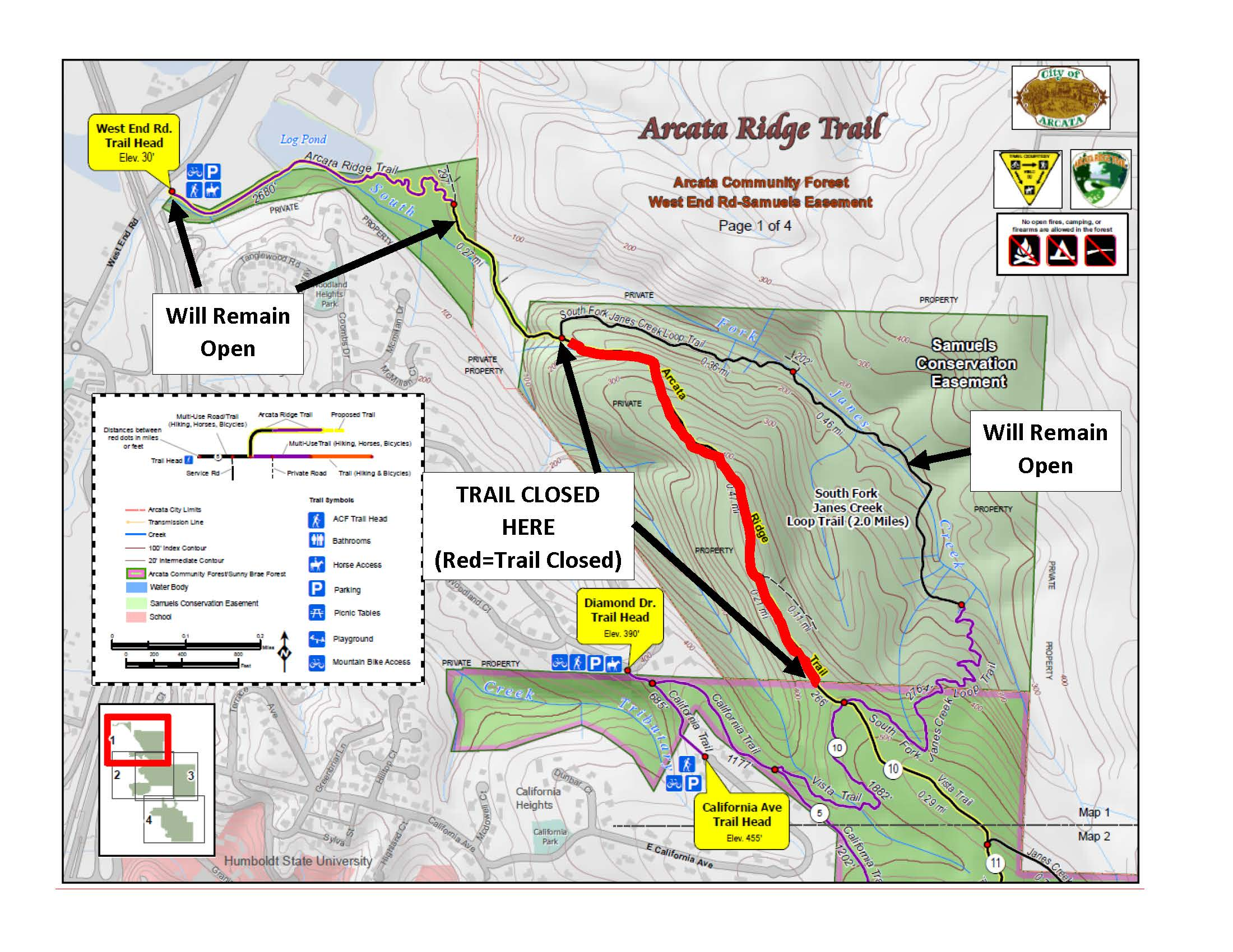 Community Forest Trail Closures September October 2018