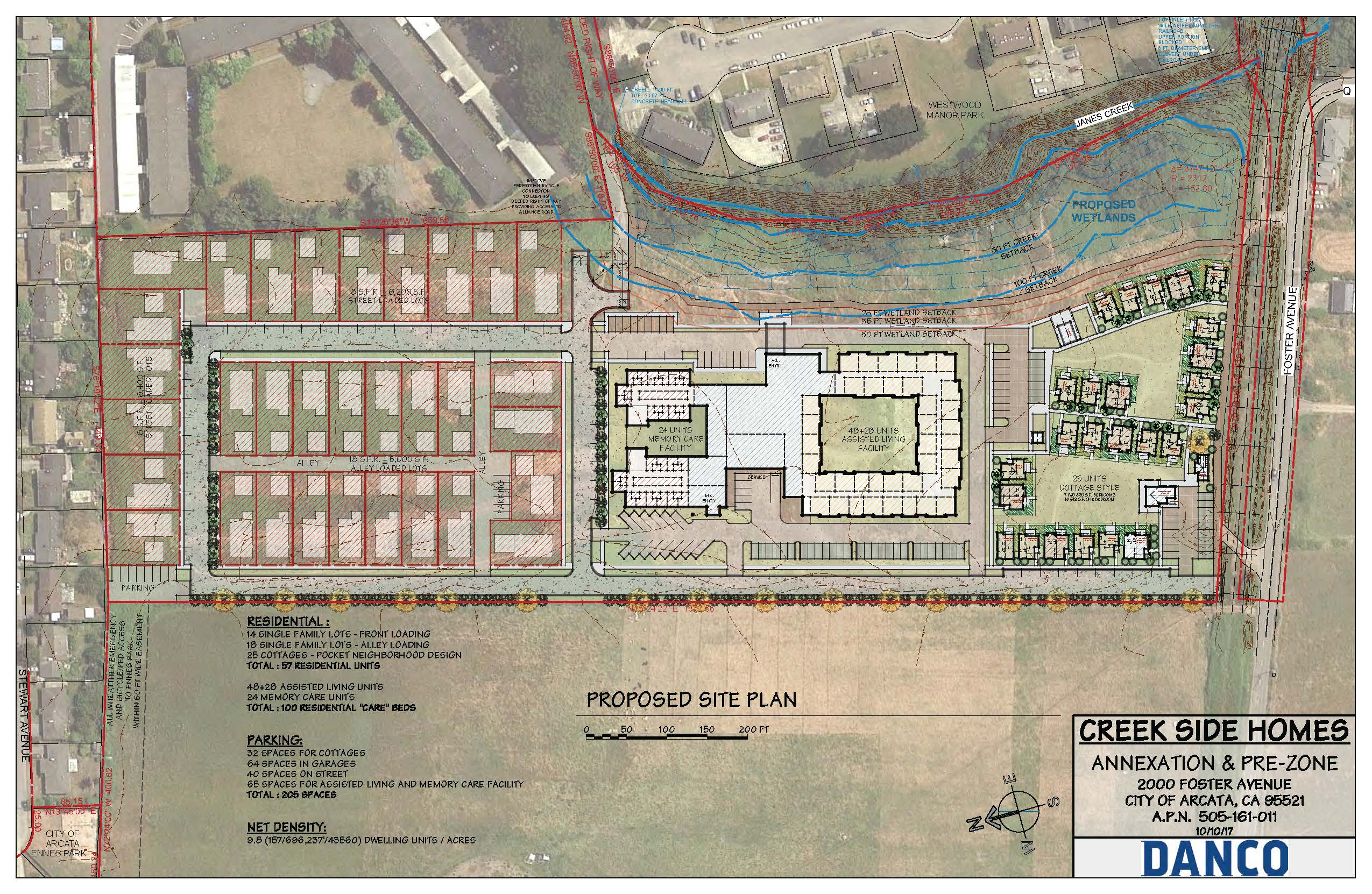 Revised Site Plan for Creek Side Mixed Occupancy Residential Annexation Project