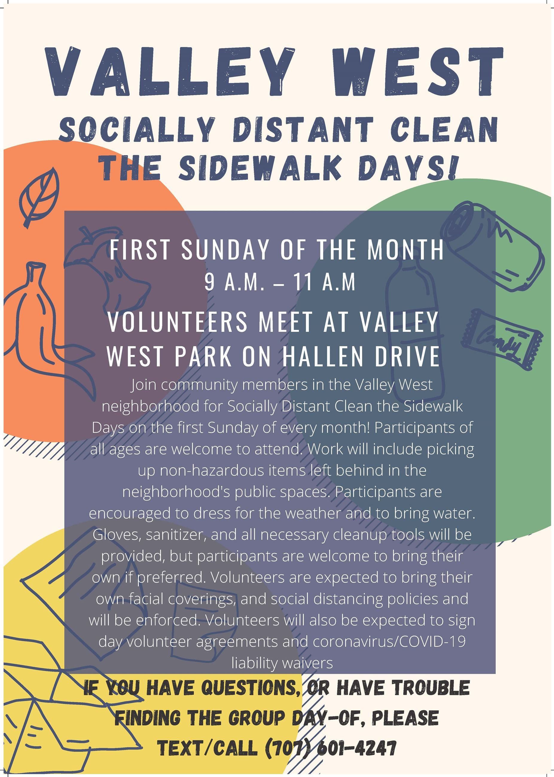 Socially Distant Valley West Clean the Sidewalk Days