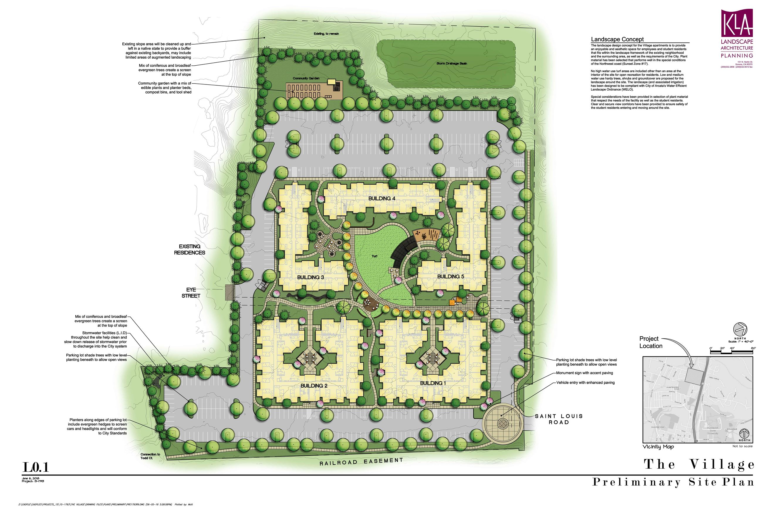 Revised Site Plan for The Village Housing Project Opens in new window