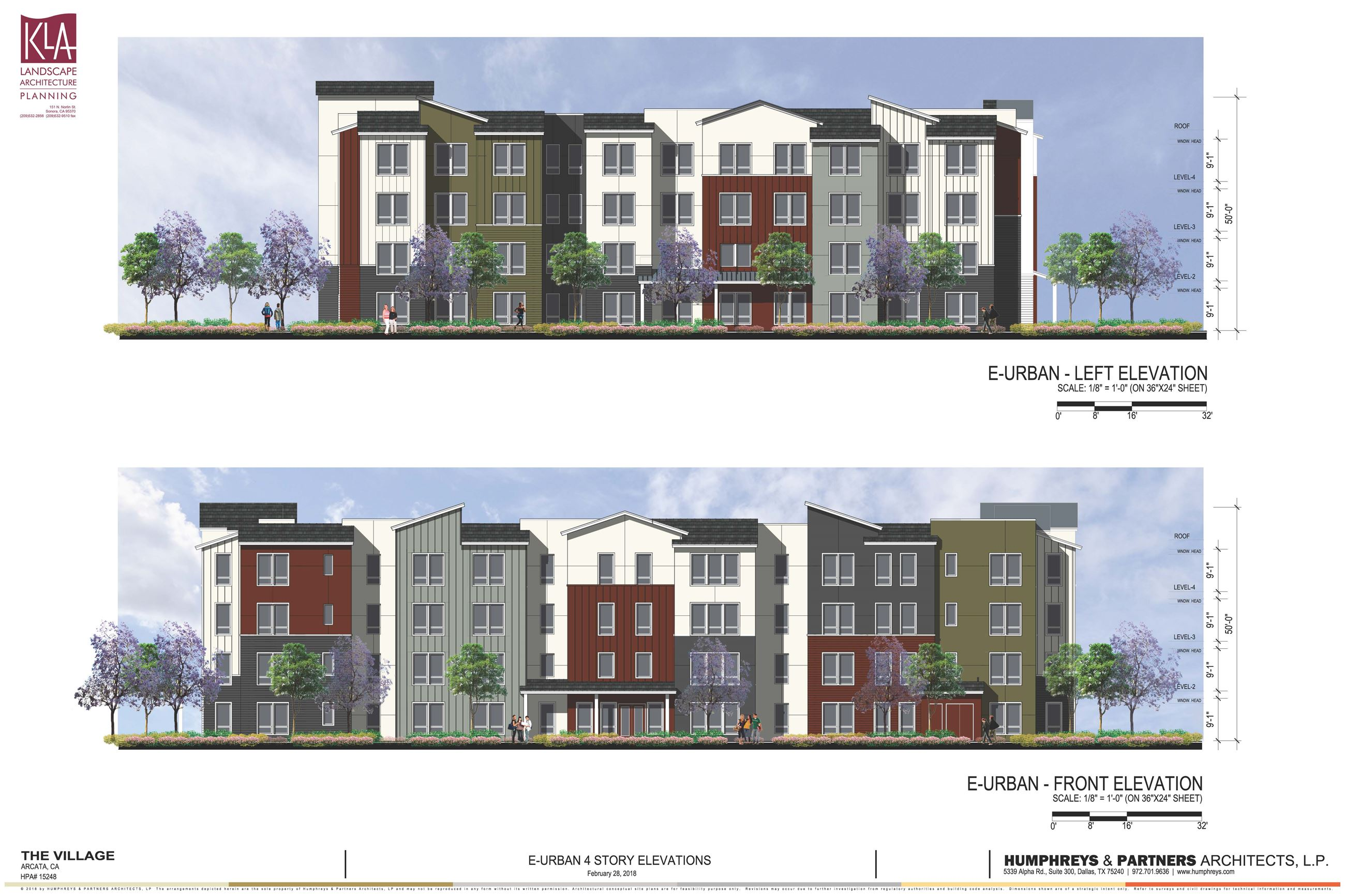 4 Story Character Elevation for The Village Housing Project Opens in new window