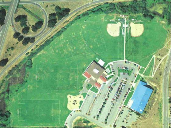 Sports Fields Aerial View