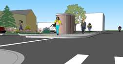 Artists Rendering of New Public Restroom